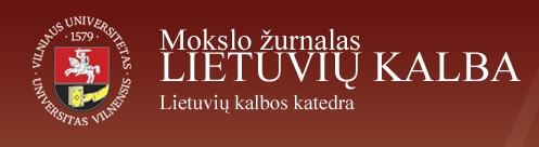 Lietuvių kalba - Mokslo žurnalas