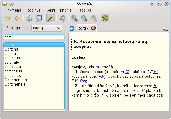 cortex-GoldenDict-Linux